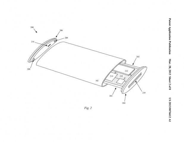 Apples Patentantrag 20130076612 beschreibt ein iPhone mit Rundum-Display (Bild: US-Patent- und Markenamt)