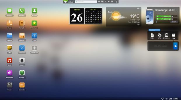 Die Weboberfläche von Airdroid (Screenshot: Golem.de)