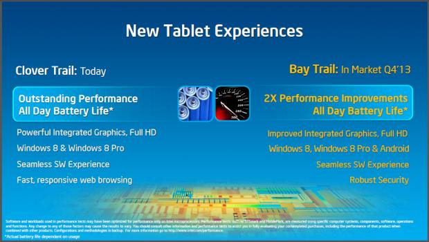 Intel kündigt Atom-SoCs Bay Trail und Merrifield an. (Folien: Intel)