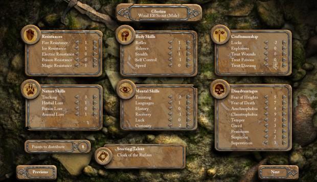 Charaktersystem Deathfire