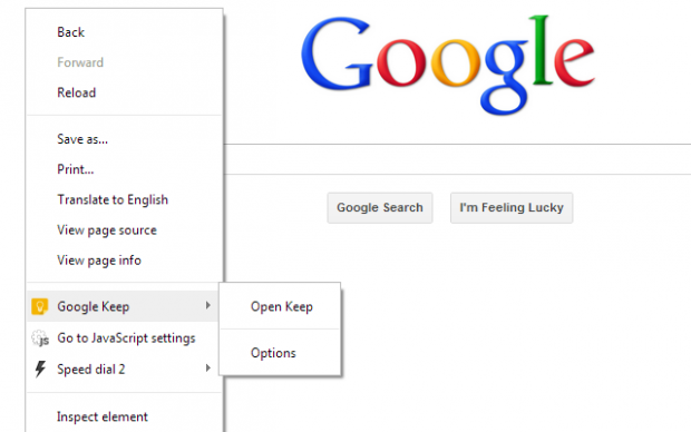Google Keep Extension (Bild: Google)