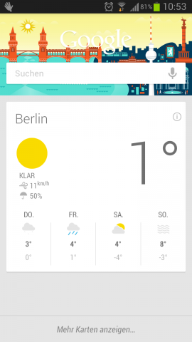 Googles Sprachassistent Google Now hat ein Update erhalten. (Screenshot: Golem.de)