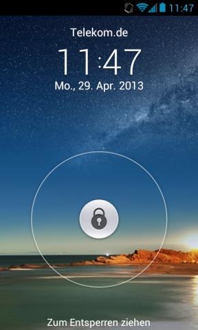 Der Startbildschirm der neuen Benutzeroberfläche Emotion UI (Screenshot: Golem.de)