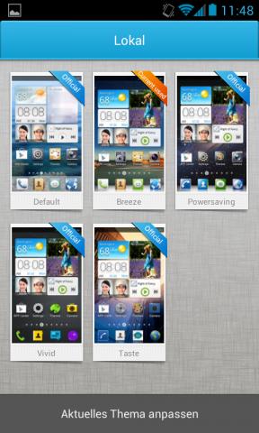 Der Nutzer kann aus verschiedenen Designs wählen. (Screenshot: Golem.de)