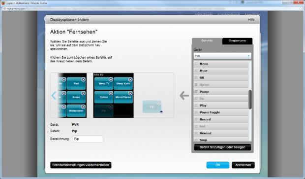 Die Belegung des Touchscreens kann per Drag-and-Drop geändert werden.... (Screenshot: Golem.de)