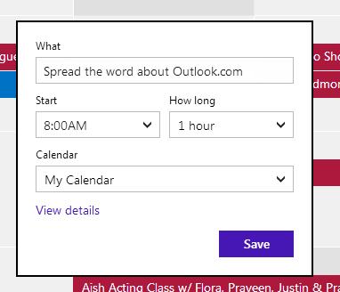 Kalender von Outlook.com (Bild: Microsoft)