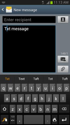 Swype 1.5 für Android (Bild: Nuance)