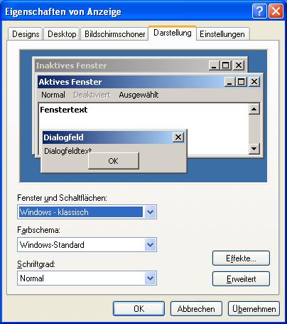Weg mit den Farben. Windows-2000-Nutzer freuten sich über das Zurückstellen der ehemals modernen Oberfläche.