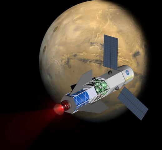 Eine Rakete mit Fusionstriebwerk könnte 2020 verfügbar sein. (Bild: University of Washington/MSNW)