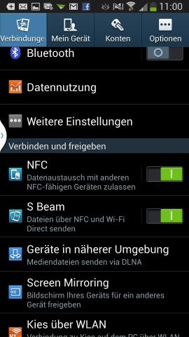 Die Netzwerkanbindung des Galaxy S4 ist überdurchschnittlich. (Screenshot: Golem.de)