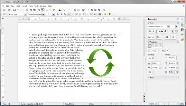 Die Seitenleiste in Writer (Bild: Libreoffice)