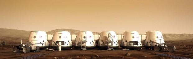 So soll die Marskolonie in den 2020er Jahren aussehen. (Bild: Mars One)