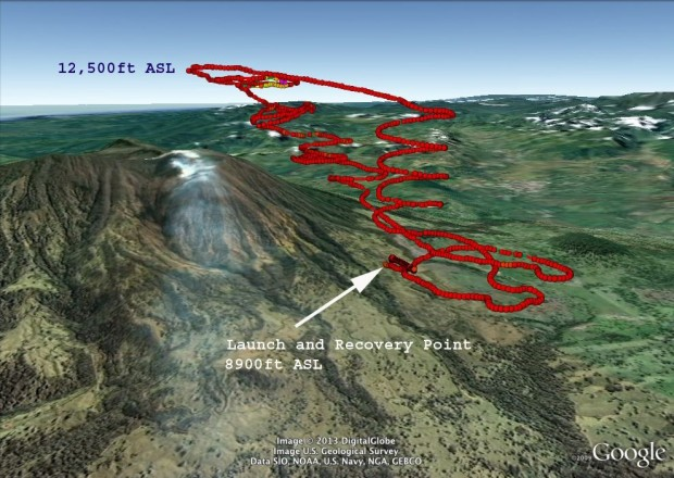 Die Nasa hat mit drei Drohnen den Vulkan Turrialba in Costa Rica erkundet. (Bild: Matthew Fladeland/Nasa/Google)