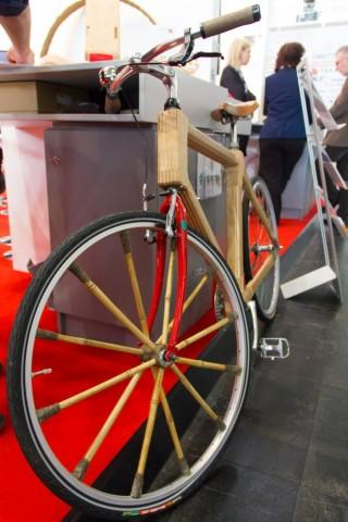 Holzrad auf der Hannover Messe 2013 (Foto: Werner Pluta/Golem.de)