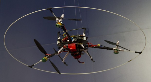 Der Tricopter auf der Hannover Messe 2013 (Foto: Werner Pluta/Golem.de)