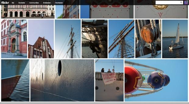 Übersichtsseite Flickr im neuen Design (Bild: Andreas Donath)