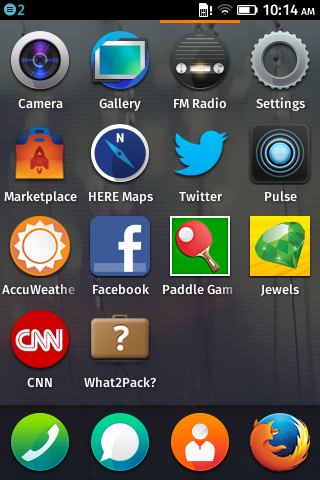 Die App-Übersicht erinnert an andere mobile Betriebssysteme. (Screenshot: Golem.de)