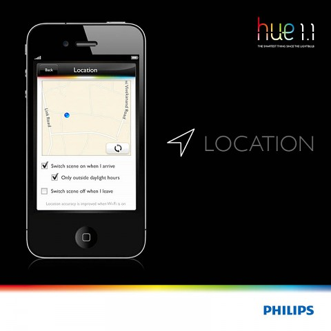 Philips Hue 1.1  - Geofencing (Bild: Philips)
