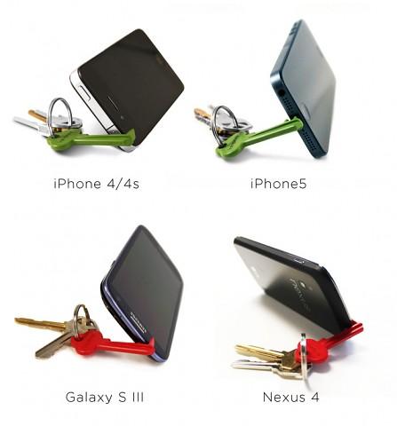 Keyprop mit verschiedenen Smartphones (Bild: Kickstarter)