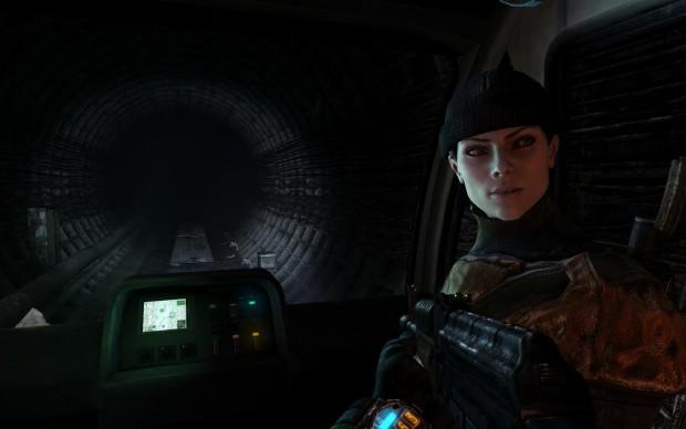 Gemeinsam mit Scharfschützin Anna fahren wir durch die Dunkelheit...