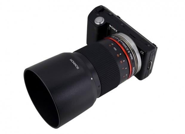 Rokinon 300mm op een Sony Nex