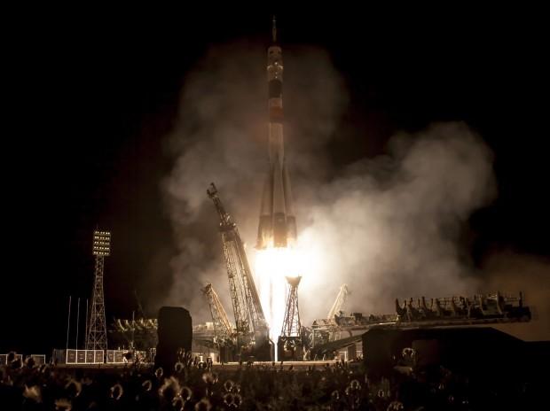 Start der  Sojus TMA-09M am 29. Mai 2013 um 2:31 Uhr Ortszeit in Baikonur. (Foto: Bill Ingalls/Nasa)