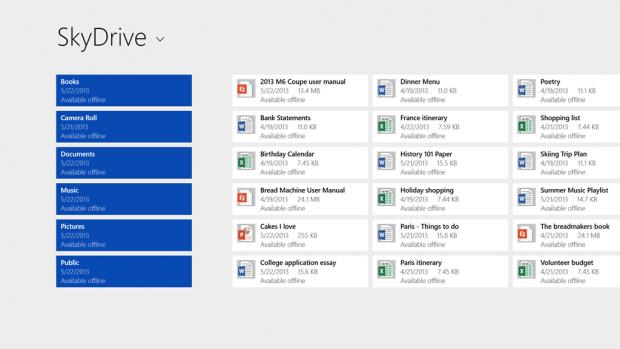 Windows 8.1 erlaubt besseren Zugriff auf Skydrive. (Quelle: Microsoft)
