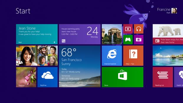 Neuer Startbildschirm von Windows 8.1 (Quelle: Microsoft)