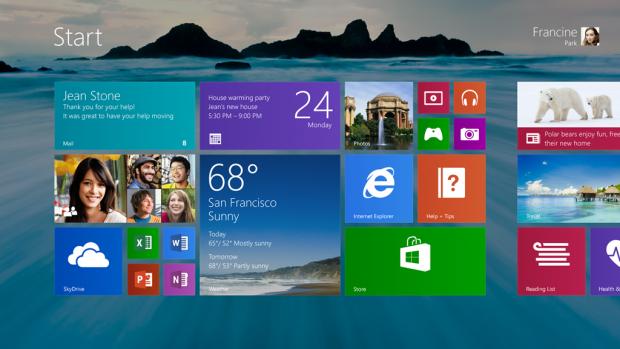 Neuer Startbildschirm von Windows 8.1 (Bild: Microsoft)