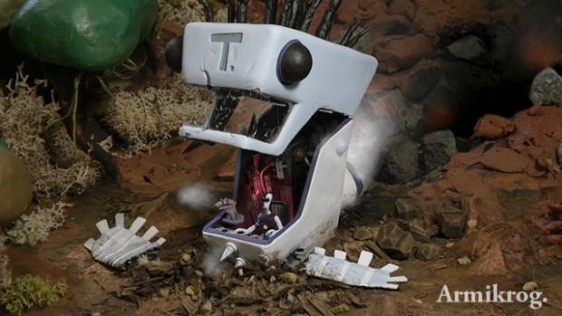 Armikrog - Tommynaut und sein blinder Alienhund Beak-Beak sind abgestürzt. (Bild: Pencil Test Studios)