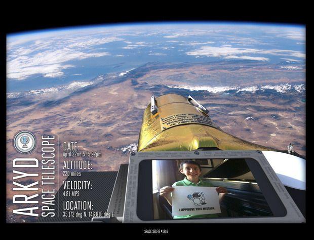 Crowdfunding: Planetary Resources porträtiert Geldgeber im All - So soll ein Space Selfie aussehen. (Bild: Planetary Resources)