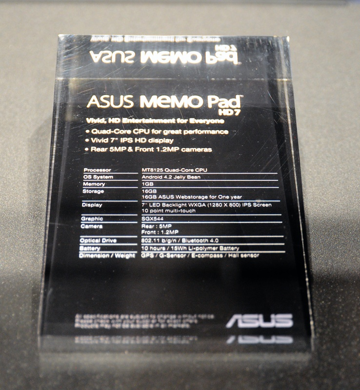 Asus: 3-in1-PC, Tegra-4-Tablet und Fonepad Note - Daten des Billigtablets HD7