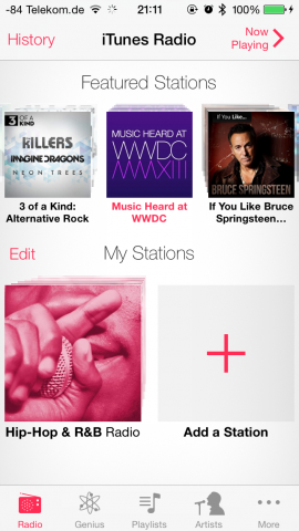 iTunes Radio (Screenshot: Golem.de)
