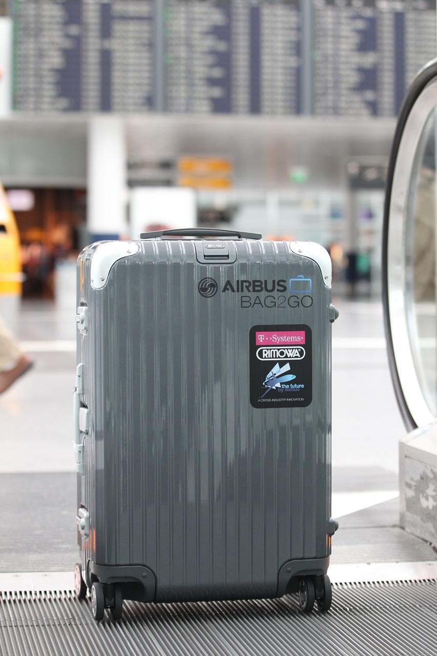 Airbus Bag2Go: Intelligenter Koffer, der alleine reisen kann - Bag2Go (Bild: Telekom)