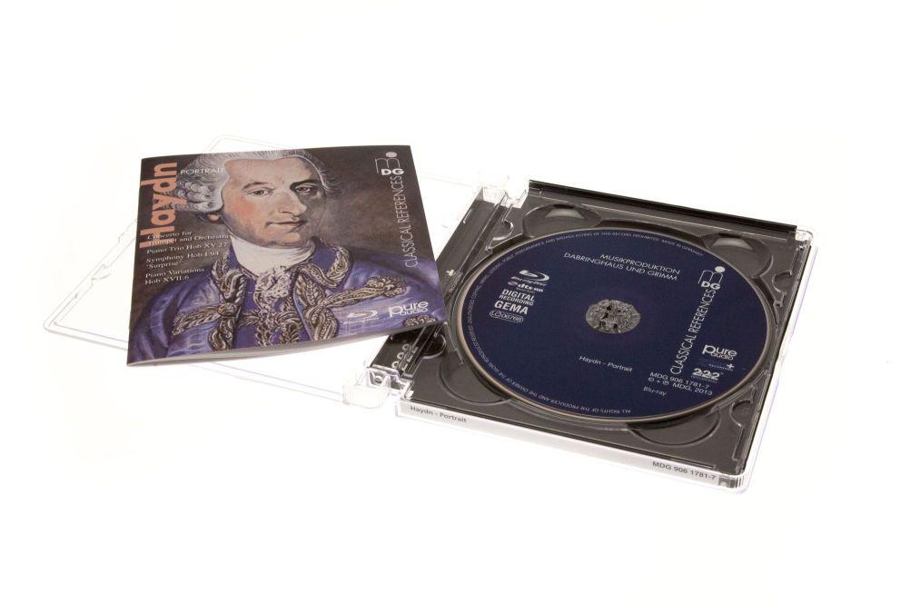 BD Pure Audio: Blu-ray-Alternative zur Super Audio CD - Eine unserer Demodiscs. Diese hat schon ein Pure-Audio-Logo auf dem Cover. (Foto: Nina Sebayang/Golem.de)