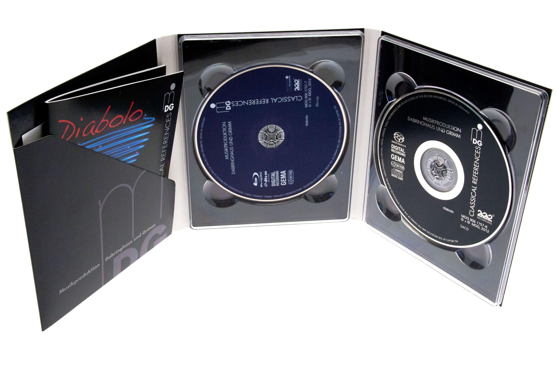 BD Pure Audio: Blu-ray-Alternative zur Super Audio CD - Blu-ray Pure Audio und Super Audio CD in einer Packung. (Foto: Nina Sebayang/Golem.de)
