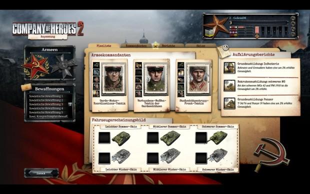 In der Rubik Armee-Anpassung kann der Spieler seine Einheiten verbessern.