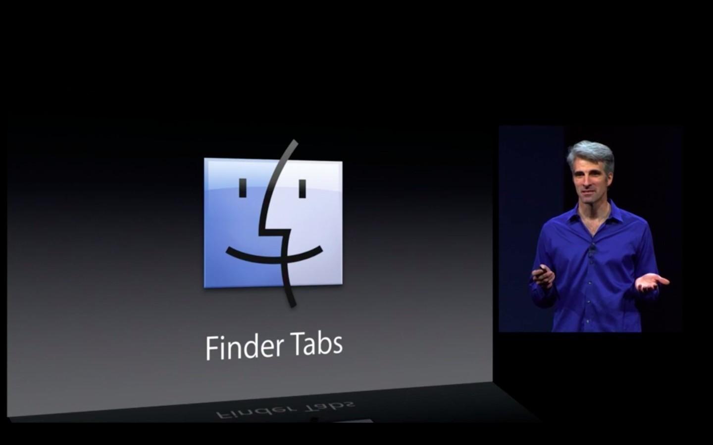 Mac OS X 10.9: Apple verkauft Mavericks ab Herbst 2013 - Finder mit Tabs (Apple/Screenshot: Golem.de)