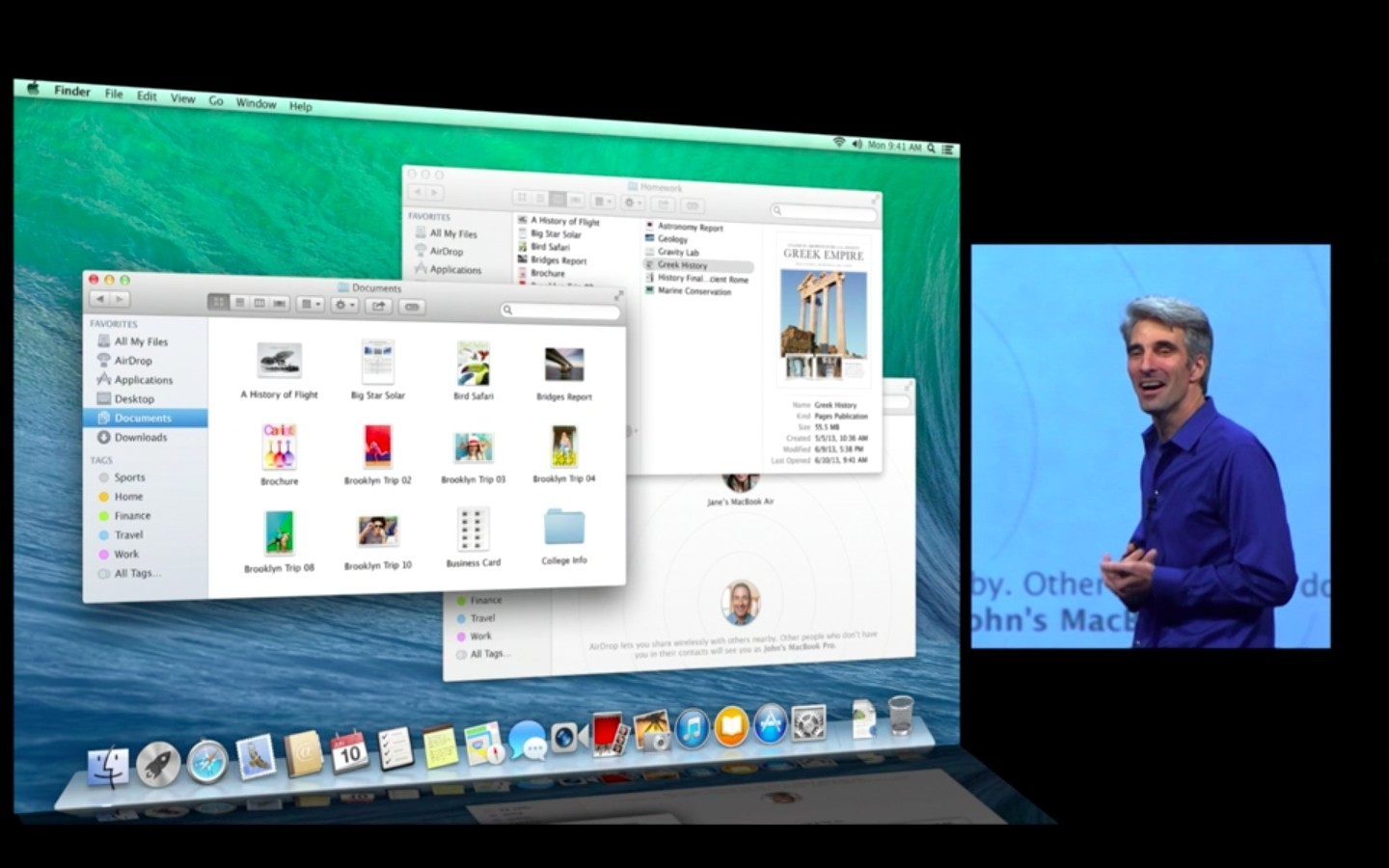 Mac OS X 10.9: Apple verkauft Mavericks ab Herbst 2013 - Finder mit Tabs (Apple/Screenshot: Golem.de)