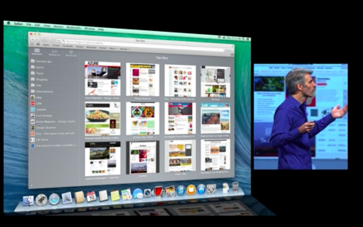Mac OS X 10.9: Apple verkauft Mavericks ab Herbst 2013 - Neue Safari-Version (Apple/Screenshot: Golem.de)