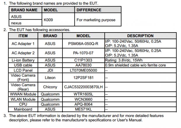 Das Dokument der FCC beschreibt ein Tablet mit Qualcomm-Prozessor und zwei Kameras. (Screenshot: Golem.de)