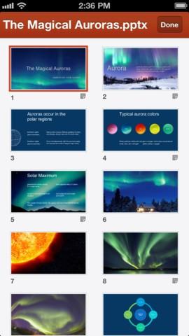 Powerpoint-Präsentation auf dem iPhone (Bilder: Microsoft)