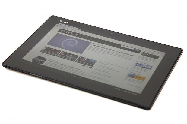 Das neue Xperia Tablet Z von Sony hat einen 10,1 Zoll großen Bildschirm mit einer Auflösung von 1.920 x 1.200 Pixeln. (Bild: Golem.de)
