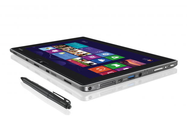 Das Toshiba WT310 gibt es mit Windows 8 (64 Bit) oder Windows 8 Pro. (64 Bit). (Bild: Toshiba)
