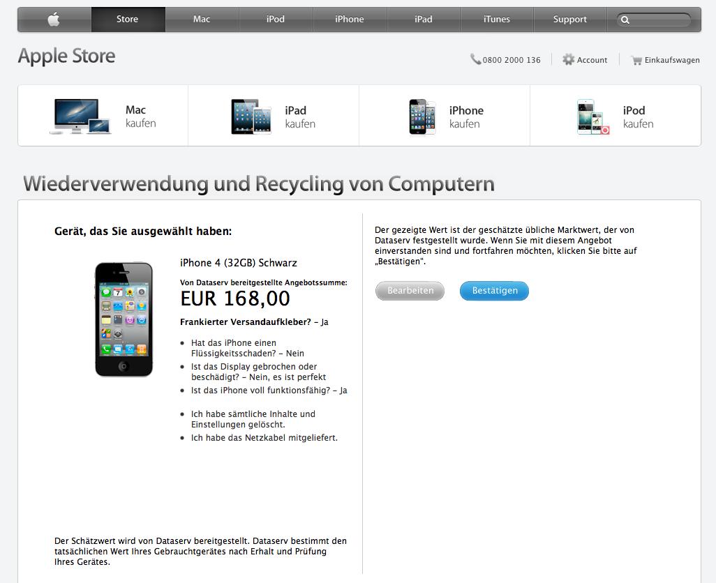 Trade-In-Programm: Apple will wohl alte iPhones im Laden zurückkaufen -