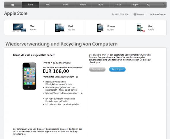 Rückkaufprogramm von Apple (Bild: Apple)
