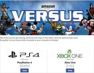 Umfrage auf Amazon.com (Bild: Facebook)