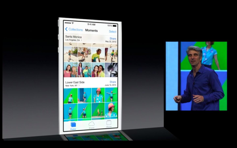 Apple: iOS 7 mit Multitasking und neuem Interface - ...werden automatisch organisiert. (Bild: Apple/Screenshot: Golem.de)