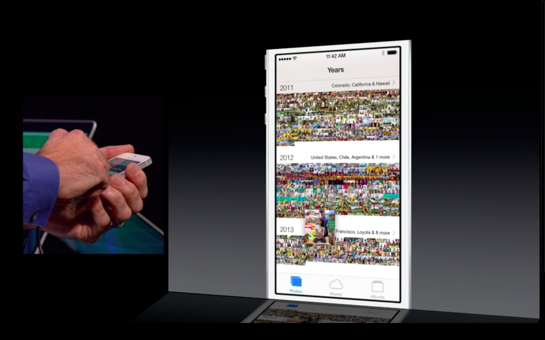 Apple: iOS 7 mit Multitasking und neuem Interface - Fotos in iOS 7 (Bild: Apple/Screenshot: Golem.de)