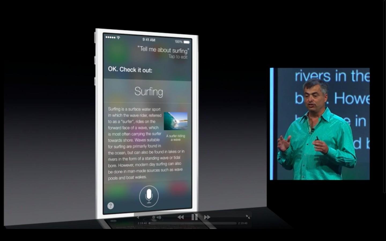 Apple: iOS 7 mit Multitasking und neuem Interface - Siri unter iOS 7 (Bild: Apple/Screenshot: Golem.de)